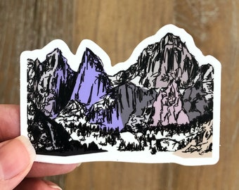 Mt Whitney Sticker | Mount Whitney Sticker | California Sticker Mountains Weatherproof Sticker Mt Whitney Weatherproof Sticker Hiker Gift