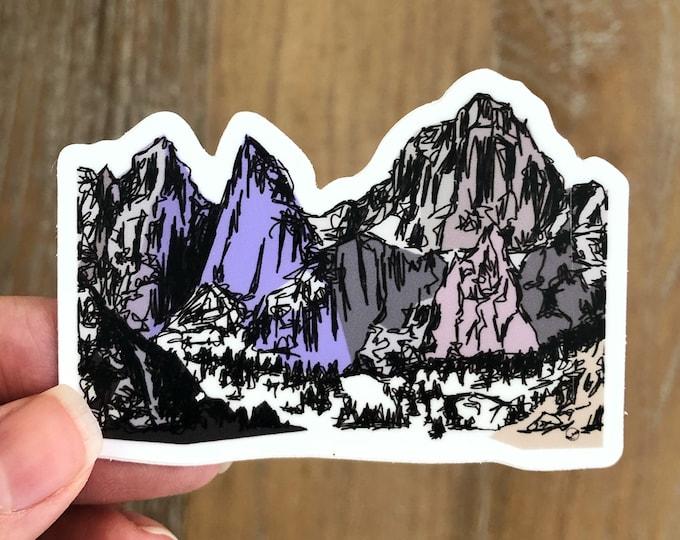 Mt Whitney Sticker | Mount Whitney Sticker | California Sticker Mountains Weatherproof Sticker Mt Whitney Weatherproof Sticker Hiker Gift