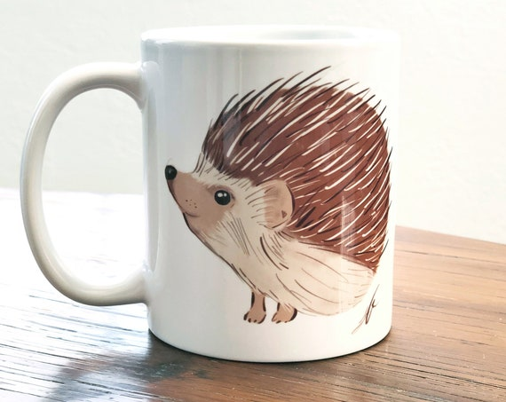 Hedgehog Coffee Mug 11 Oz | Hedgehog Mug | Hedgehog Gift | Woodland Animal Mug | Woodland Creature Mug | Woodland Theme Woodsy Birthday Gift
