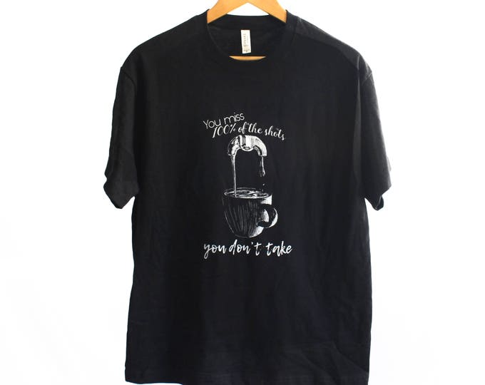 Missed Shots Men's Heavyweight Street Tee | Espresso Shirt | Coffee Life Shirt | Coffee Shirt | Coffee Lover Shirt | Coffee Snob Shirt