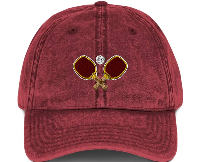 Featured listing image: Vintage Pickleball Cotton Twill Cap