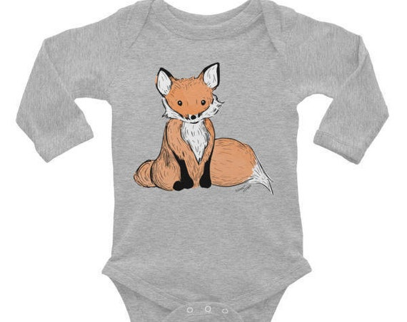 Fox Baby Bodysuit - Woodland Animal Baby Outfit