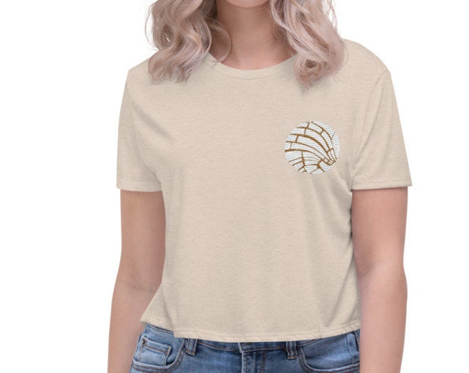 Featured listing image: Pan Dulce Embroidered Crop Tee