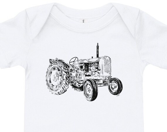 Tractor Baby Bodysuit Farm Life Infant Bodysuit Tractor Birthday Gift Matching Tractor Baby & Daddy Tractor Life Tractor Baby Shower Gift