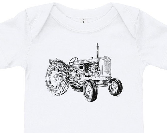 Featured listing image: Tractor Baby Bodysuit Farm Life Infant Bodysuit