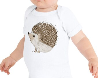 Hedgehog Baby Bodysuit | Hedgehog Infant Bodysuit | Woodland Nursery | Woodland Theme | Hedgehog Nursery | Baby Shower Gift