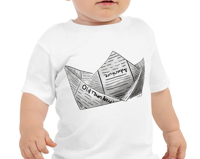 Newspaper Boat Baby Jersey Short Sleeve Tee | Newspaper Boat Shirt | Boat | Gift | Adventure Shirt Kid's Boat Shirt Kid's Shirt Baby Shower