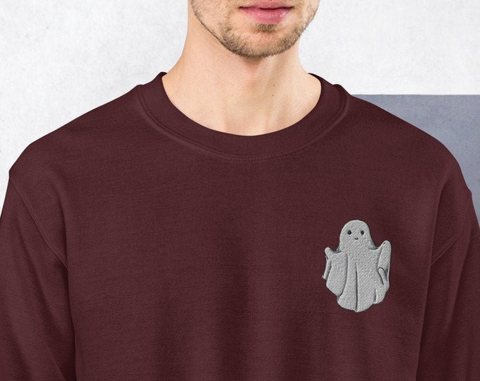 Featured listing image: Little Ghost Unisex Embroidered Sweatshirt