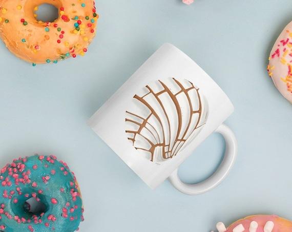Pan Dulce Coffee Mug 11 Oz | Concha Coffee Mug | Hispanic Gift Latinx Coffee Mug Baking Bakery Baker Gift Bread Mug Mexican Mug Chicano Mug
