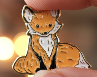 Fox Enamel Pin | Fox Pin | Fox Life | Fox Lover Fox Drawing Cute Pin Cute Enamel Pin Woodland Creature Pin Woodland Animal Pin Fox Lapel Pin