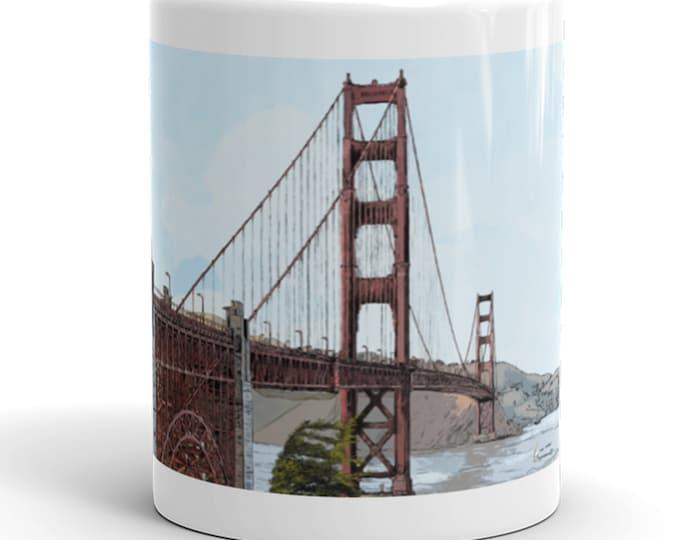 San Francisco Golden Gate Bridge Mug | California Mug | Landmark Coffee Mug | San Francisco Coffee Mug | Golden Gate Bridge Coffee Mug