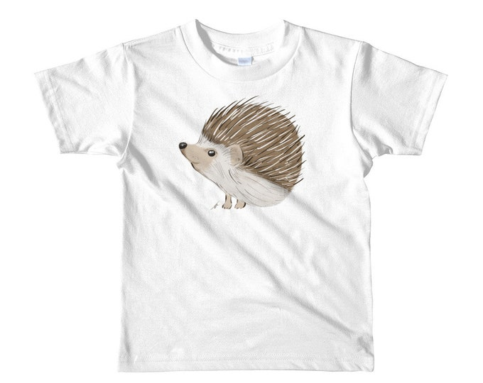 Hedgehog Short sleeve kids t-shirt 2yrs-6yrs | Hedgehog Kid's Shirt | Hedgehog Gift | Hedgehog Shirt | Woodland Animal Birthday Gift Woodsy