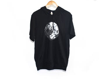 Moon Men's Jersey Short Sleeve Hoodie | Moon Hoodie | Galaxy Hoodie | Moon Shirt Space Hoodie Space Shirt Trendy Shirt valentine's day gift