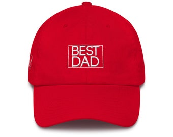 Best Dad Hat Cotton Cap Dad Hat Best Dad Ever Dad Birthday Gift Dad Gift Dad Present Father Gift Dad Father's Day Present Dad Birthday Gift