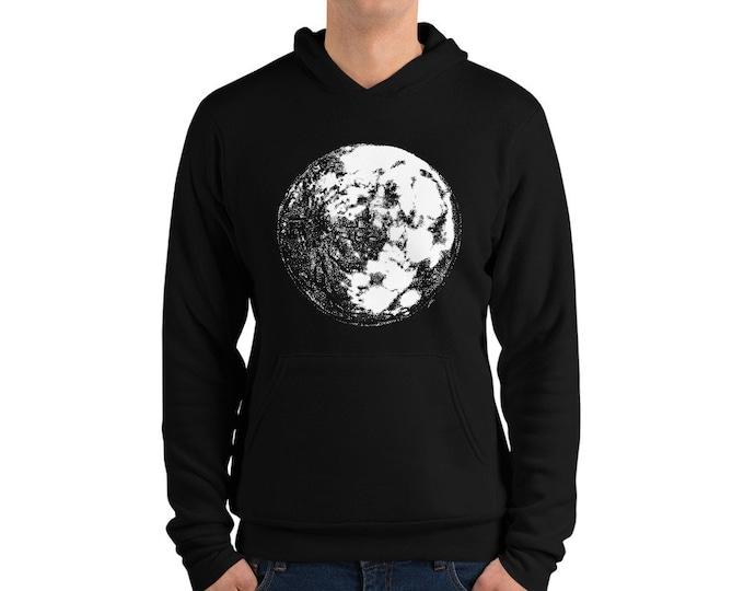 Moon Unisex hoodie   Moon Hoodie Moon Sweater Moon Sweatshirt Full Moon Sweater Moon Child Christmas Gift Science Hoodie Space Hoodie Galaxy