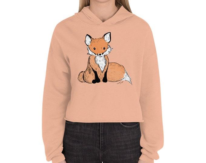 Fox Crop Hoodie | Fox Crop Sweater | Woodland Animal Sweater Fox Sweater Woodland Sweatshirt Woodsy Shirt Woods Forest Fox Christmas Present