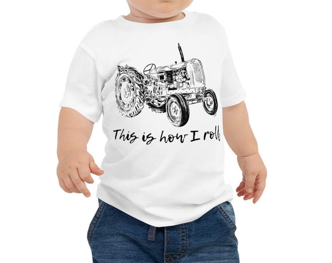 This is How I Roll Tractor Baby Jersey Short Sleeve Tee 6m-24m | Farm Life Kid's Shirt Farm Shirt Farmer Shirt Tractor Shirt Baby Shower