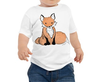 Fox Baby Jersey Short Sleeve Tee | Fox Shirt Fox Kid's Shirt Woodland Animal Woodland Creature Like a Fox Baby Shower Gift Woodland Nursery
