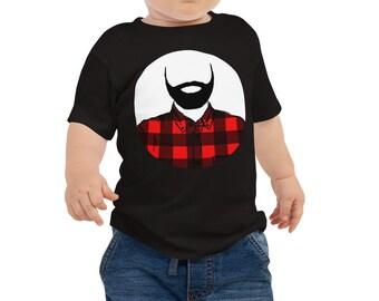 Lumberjack Baby Jersey Short Sleeve Tee 6M-24M   Lumberjack Infant Shirt   Lumberjack Baby Shirt   Baby Outfit   Beard Baby Shirt   Bearded