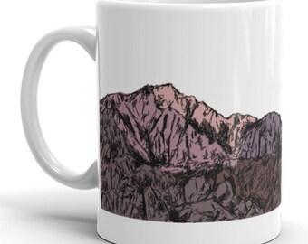 Mt Whitney Mug | Mountain Whitney Coffee Mug | Mountains Coffee Mug | Mountain Coffee Mug | California | Nature | Landscape | Bold | Colors