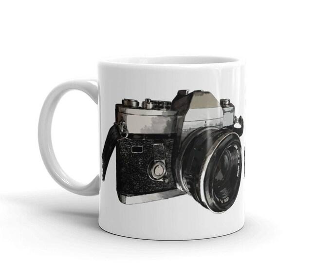 Vintage Camera Mug 11 Oz | Photographer Coffee Mug | Vintage Camera Coffee Mug | Photographer Mug | Photography Mug | 35mm film mug
