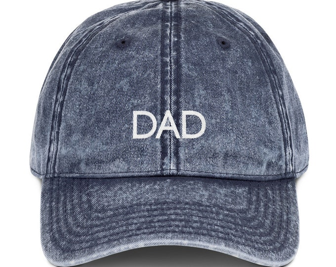 Dad Vintage Cotton Twill Cap Father's Day Gift Father's Day Hat Dad Hat Daddy Hat Papa Hat Father Hat Dad Gift New Dad Gift Baby Shower Gift