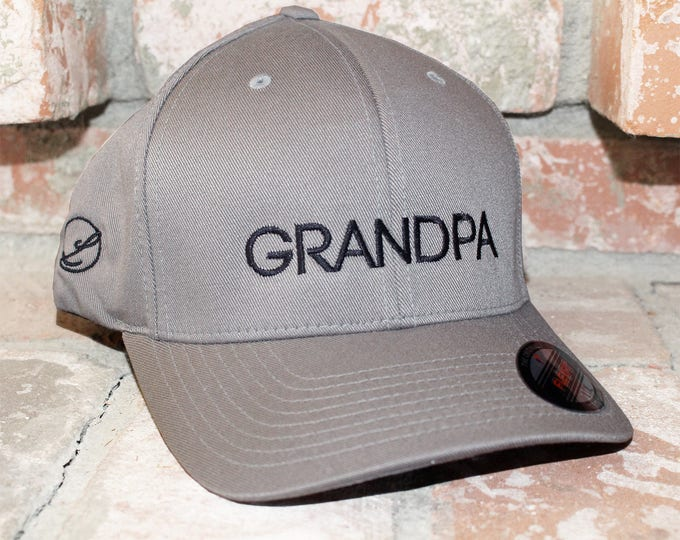 Grandpa Flexfit Structured Twill Cap hat Grandpa Hat Grandfather Hat Grandpa Cap Grandpa Gift Grandfather Gift papa gift Christmas Present