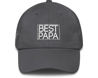 Best Papa Dad Hat Cotton Cap | Papa Hat | Grandpa Hat | Grandpa Gift | Father's Day Gift | Papa Gift | Grandpa Birthday Gift