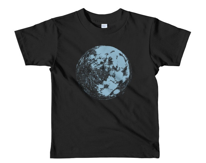 Blue Moon Kid's T-Shirt - Full Moon Kids Shirt