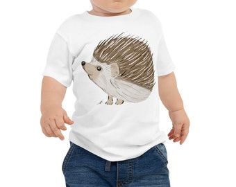 Hedgehog Baby Jersey Short Sleeve Tee 6m-24m | Hedgehog Kid's Shirt | Hedgehog Gift | Hedgehog Shirt | Woodland Animal Birthday Gift Woodsy