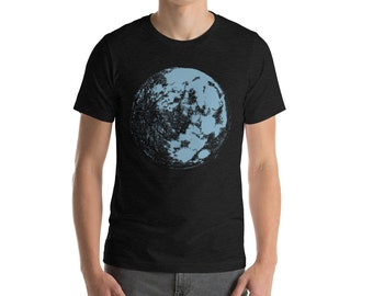 Blue Moon Short-Sleeve Unisex T-Shirt | Moon Shirt | Space T-Shirt | Science Shirt | Galaxy Shirt | Full Moon Shirt | Moon Light Tee