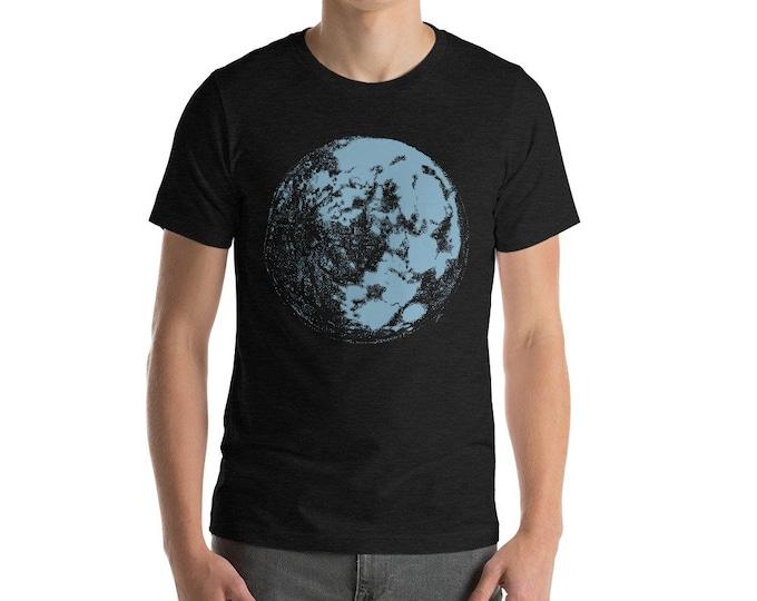 Blue Moon Short-Sleeve Unisex T-Shirt | Moon Shirt | Space T-Shirt | Science Shirt | Galaxy Shirt | Full Moon Shirt | Moon Light Tee