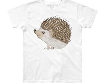 Hedgehog Youth Short Sleeve T-Shirt 8yrs-12yrs   Hedgehog Kid's Shirt   Hedgehog Gift   Hedgehog Shirt Woodland Animal Birthday Gift Woodsy