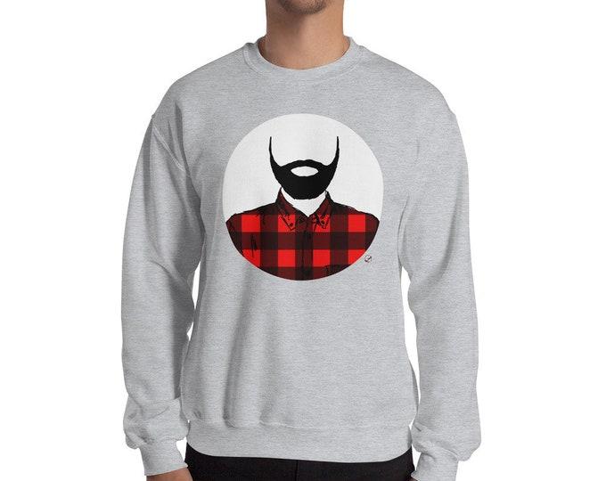 Lumberjack Crewneck Sweatshirt Lumberjack Sweater beard Sweater beard life Dad life Dad Gift Lumberjack Gift Christmas Present Birthday Gift