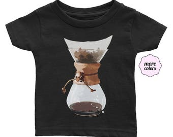 Pour Over Infant / Baby Short-Sleeve Shirt | Coffee Lover Baby Shirt | Coffee Infant Shirt | Barista | Pour-Over Coffee | Coffee Life | Gift