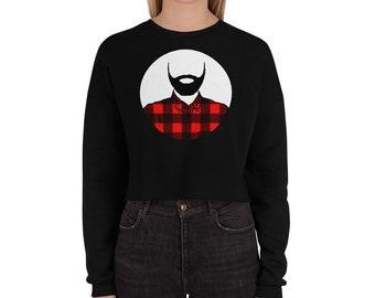 Lumberjack Crop Sweatshirt lumberjack hoodie lumberjack sweater Beard Love Lumberjack Party Lumberjack Wife Christmas Present Birthday Gift
