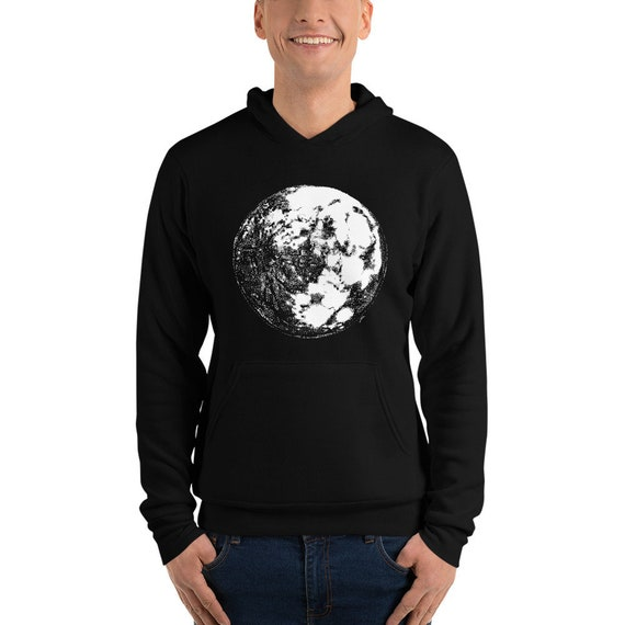 Moon Unisex hoodie | Moon Hoodie Moon Sweater Moon Sweatshirt Full Moon Sweater Moon Child Christmas Gift Science Hoodie Space Hoodie Galaxy