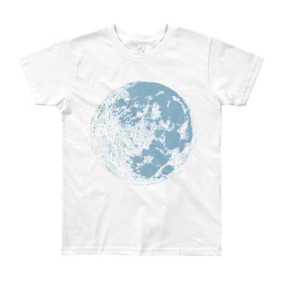Blue Moon Youth T-Shirt - Full Moon Kids Shirt