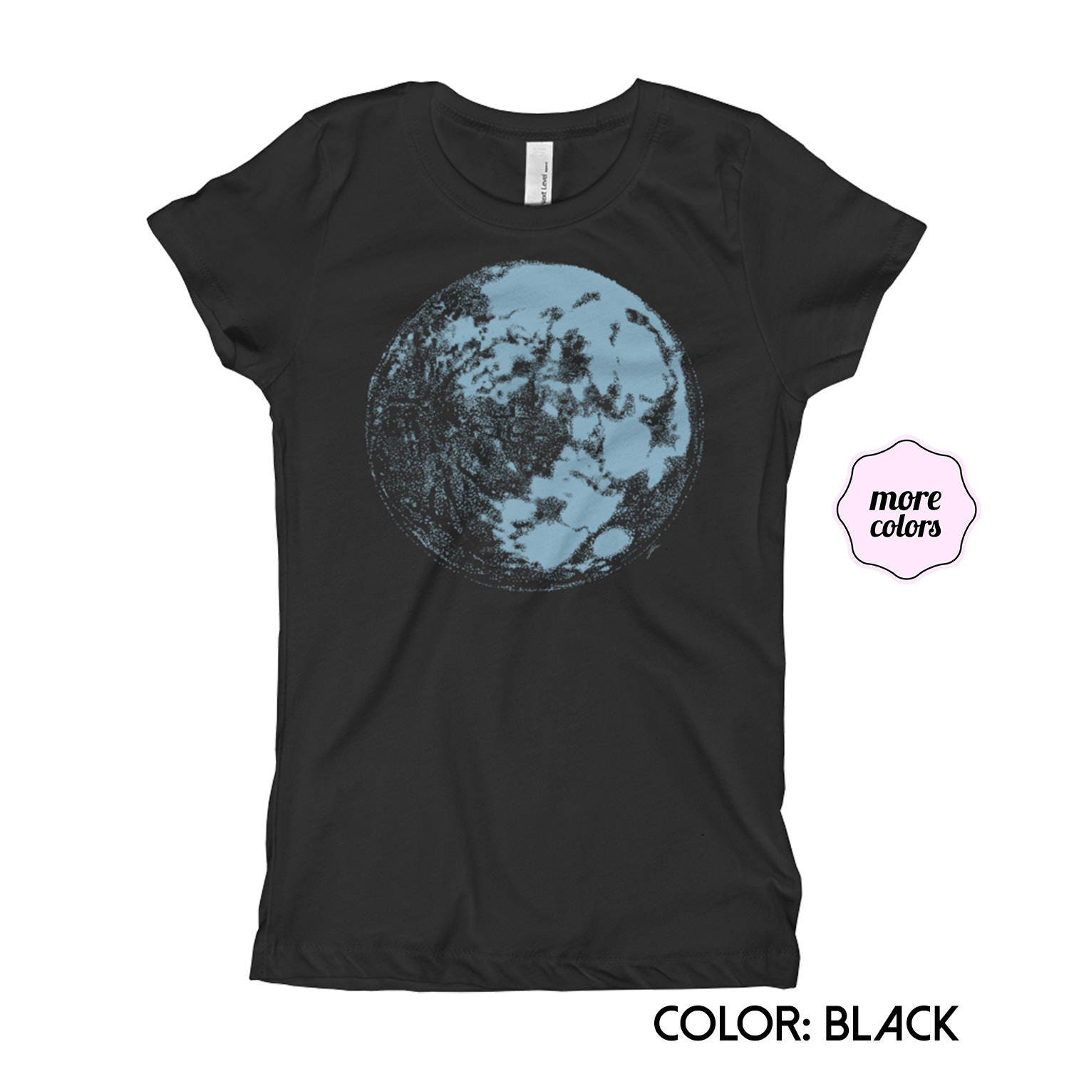 Blue Moon Girls Princess T Shirt Moon Little Girls Etsy