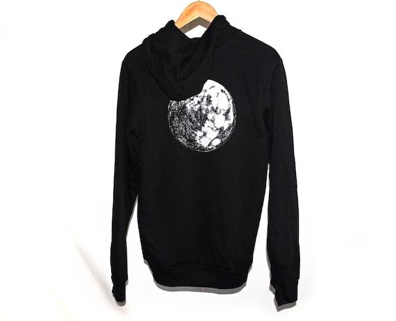 Moon Unisex Sponge Fleece Full-Zip Hoodie | Moon Hoodie | Moon Zip Up Hoodie | Moon Sweater | Space Sweater | Space Hoodie | Galaxy Hoodie