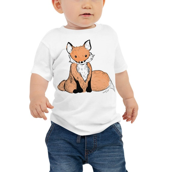 Fox Baby Jersey Short Sleeve Tee | Fox Shirt Fox Kid's Shirt Woodland Animal Woodland Creature Like a Fox Baby Shower Gift Woodland Nursery