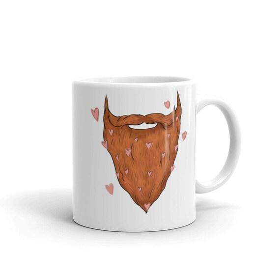 Beard Love Mug | Father's Day Mug | Red Beard Coffee Mug | Red Beard Mug Beard Love Gift for Him Beard Gift Ideas Redhead Gift Dad Birthday