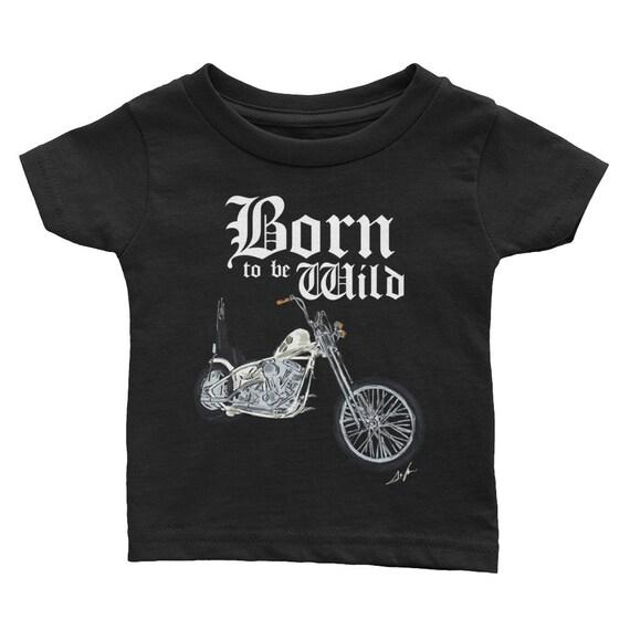 Born to be Wild Biker Infant Tee | Biker Baby Shirt | Baby Shower Gift | Motorcycle Family | Born to be Wild Baby Shirt