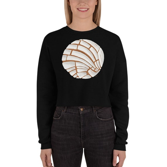 Pan Dulce Crop Sweatshirt Pan Dulce Sweater Concha Crop Hoodie Pan Dulce Crop Sweater Hispanic Latinx Mexican Sweater Halloween Costume