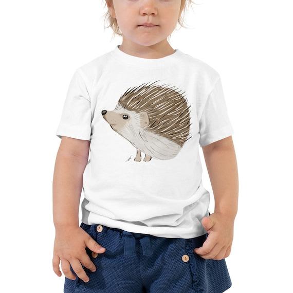 Hedgehog Toddler Short Sleeve Tee 2T-5T | Hedgehog Kid's Shirt | Hedgehog Gift | Hedgehog Shirt | Woodland Animal Birthday Gift Woodsy