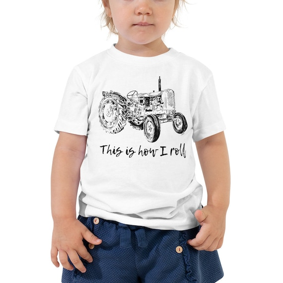 This is How I Roll Tractor Toddler Short Sleeve Tee 2T-5T | Farm Life Kid's Shirt Farm Shirt Farmer Shirt Tractor Shirt Birthday Gift