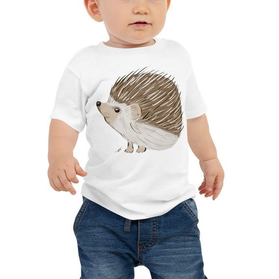 Hedgehog Baby Jersey Short Sleeve Tee 6m-24m | Hedgehog Kid's Shirt | Hedgehog Gift | Hedgehog Shirt | Woodland Animal Birthday Gift Woodsy