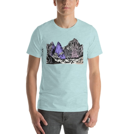 Mountains Short-Sleeve Unisex T-Shirt | Mt Whitney Shirt Mount Whitney Shirt Hiking California Outdoors Mountain Gift Sierra Mountains Gift