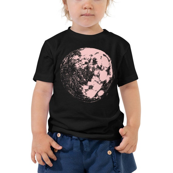 Pink Moon Toddler Shirt - Full Moon Kids Outfit