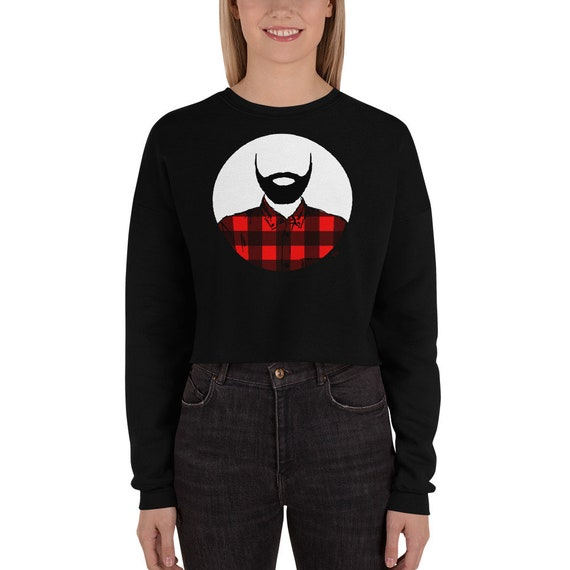 Lumberjack Crop Sweatshirt lumberjack hoodie lumberjack sweater Beard Love Lumberjack Party Lumberjack Wife Christmas Present Birthday Gift